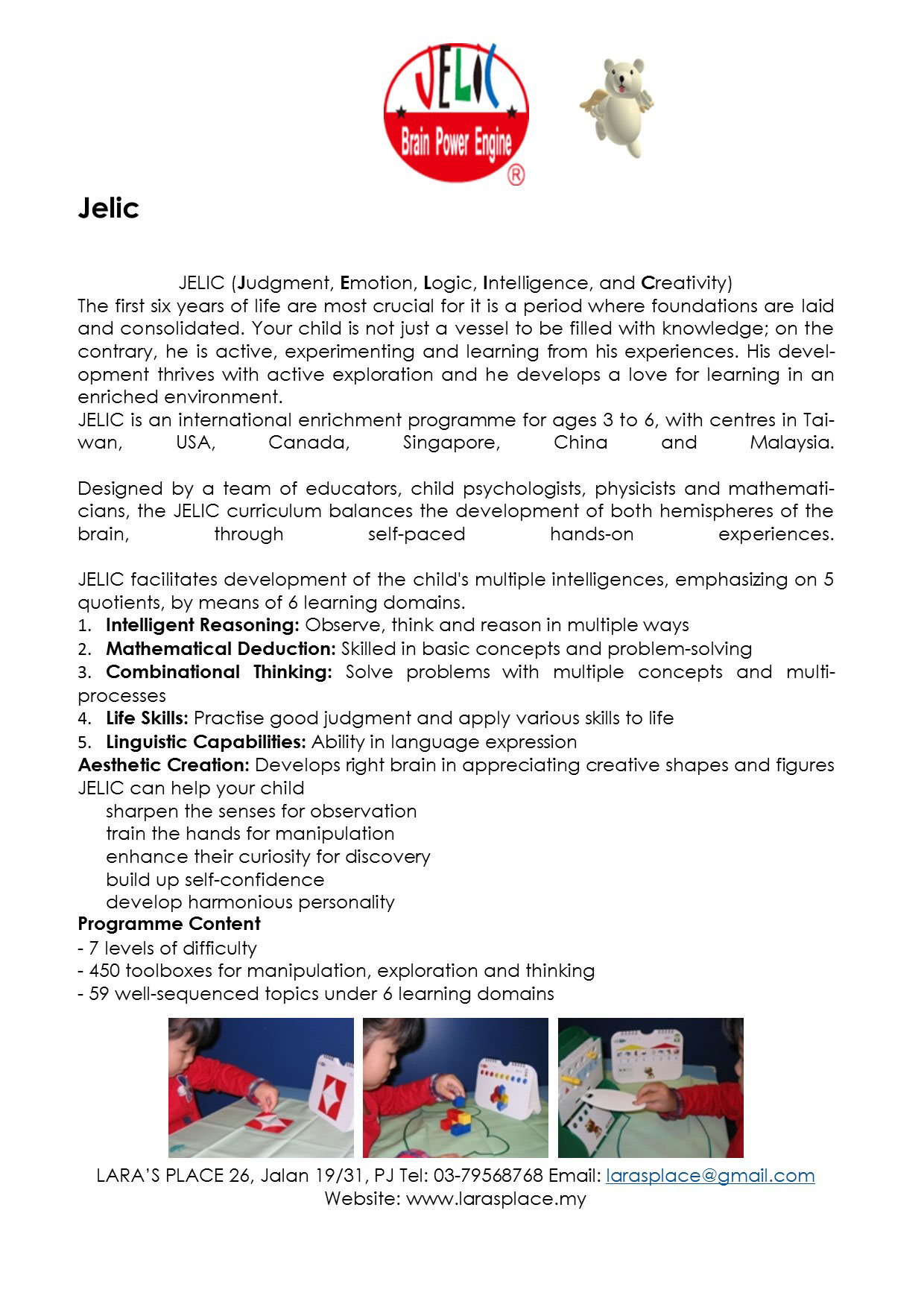 Jelic Multi-Intelligence /Ludia-Brain IQ Activities Holiday Program @ Lara's Place | Petaling Jaya | Selangor | Malaysia