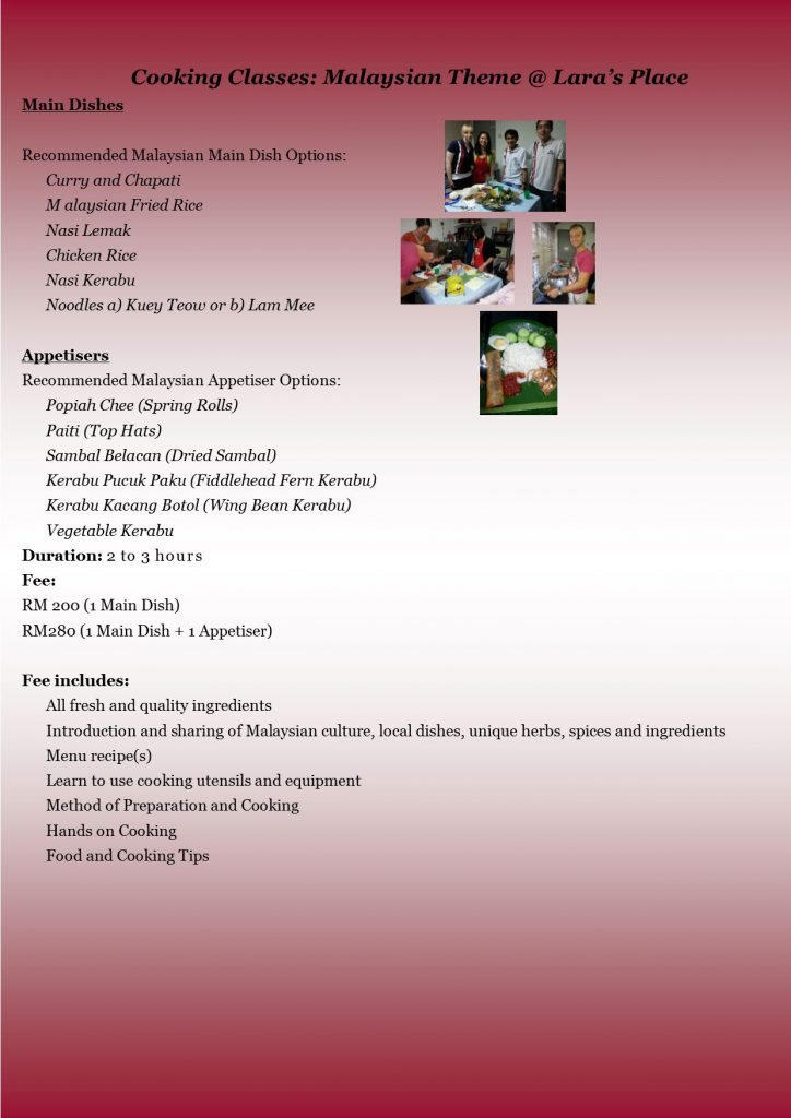 cooking- Malaysian theme