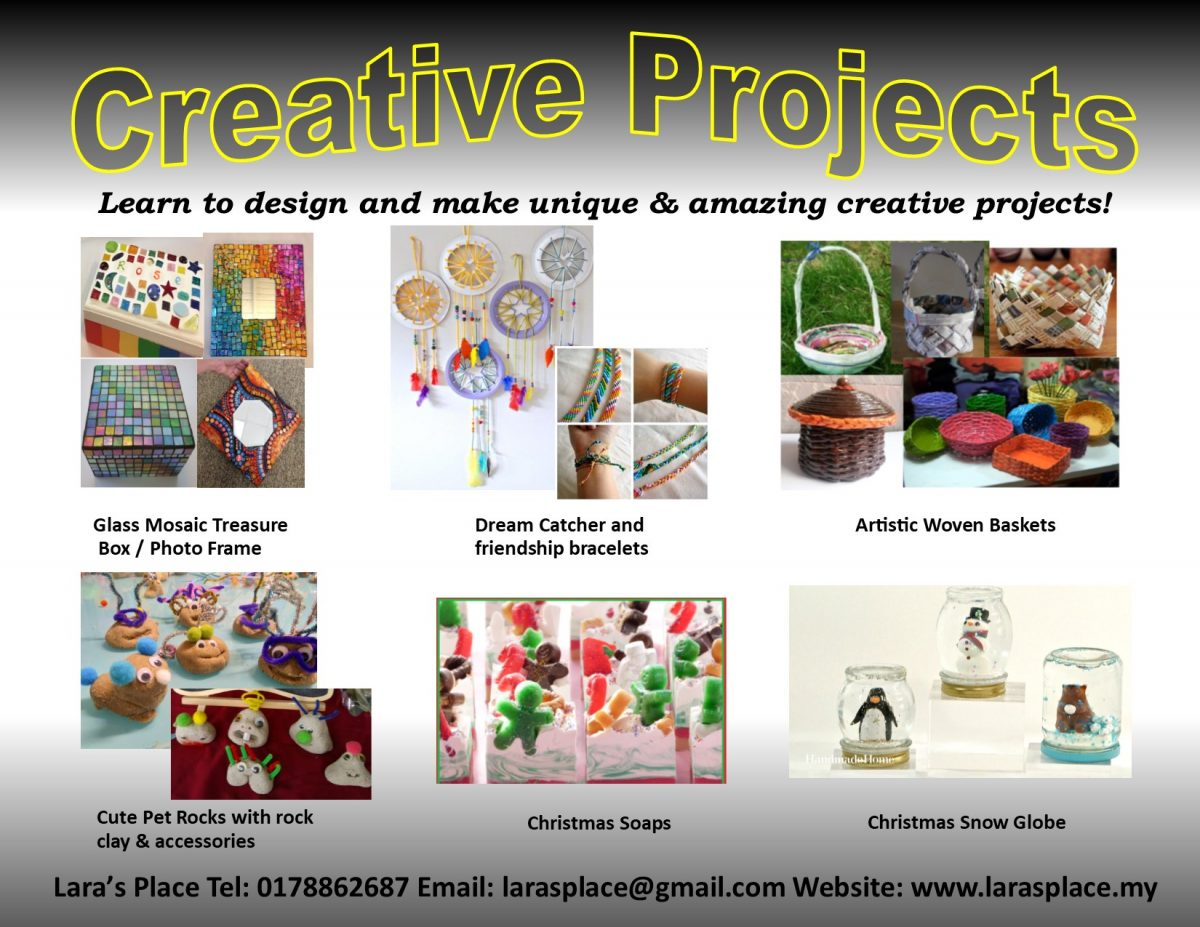 creative-projects-nov19-dec19-mosaic-dream-catcherfrienship-bracelet-woven-basket-petrock-soap-christmas-globe
