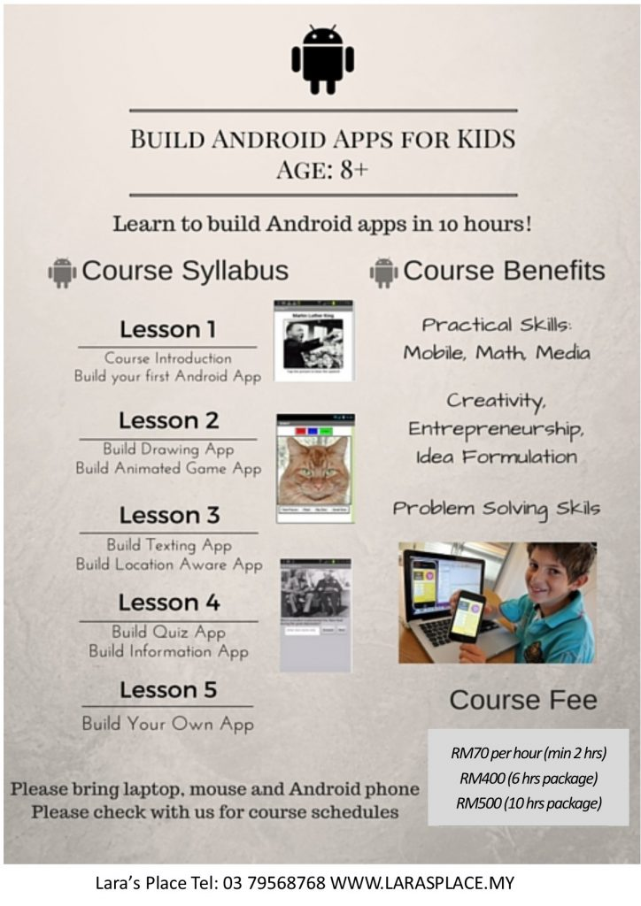 BUILD ANDROID APPS FOR KIDS