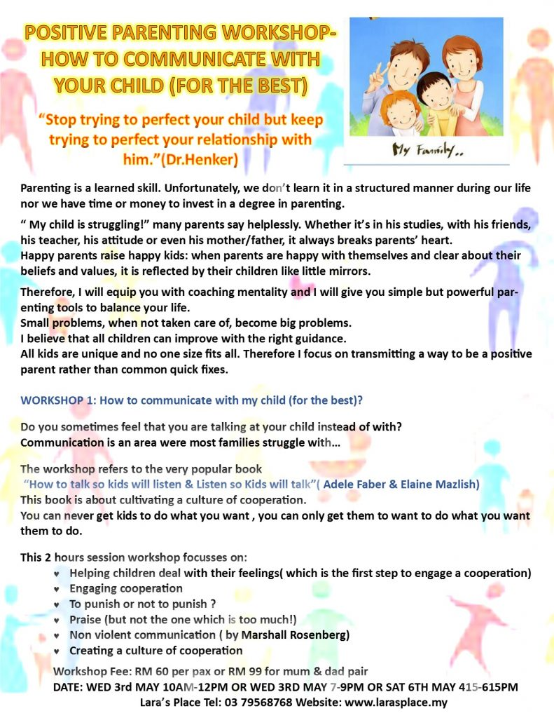 Positive Parenting - 1stp-COMMUNICATION WORKSHOP