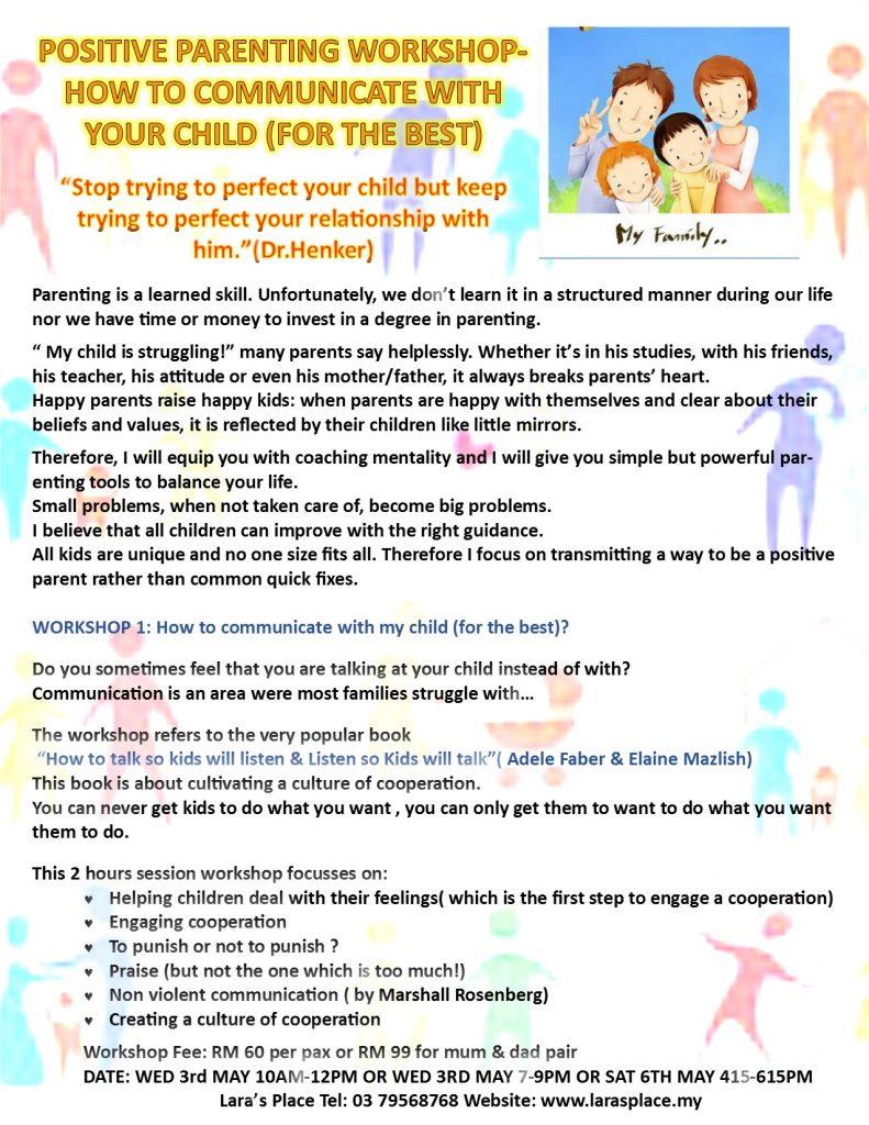 Positive Parenting - 1stp-COMMUNICATION WORKSHOP